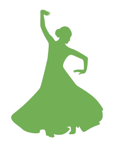 clipart of a dancer in a flowing dress