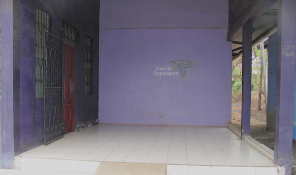 the entrance to the stitching hope center in Chacraseca
