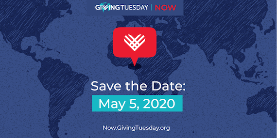 #GivingTuesdayNow save the date 5 May 2020